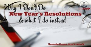 New Year Resolutions Do Not Work
